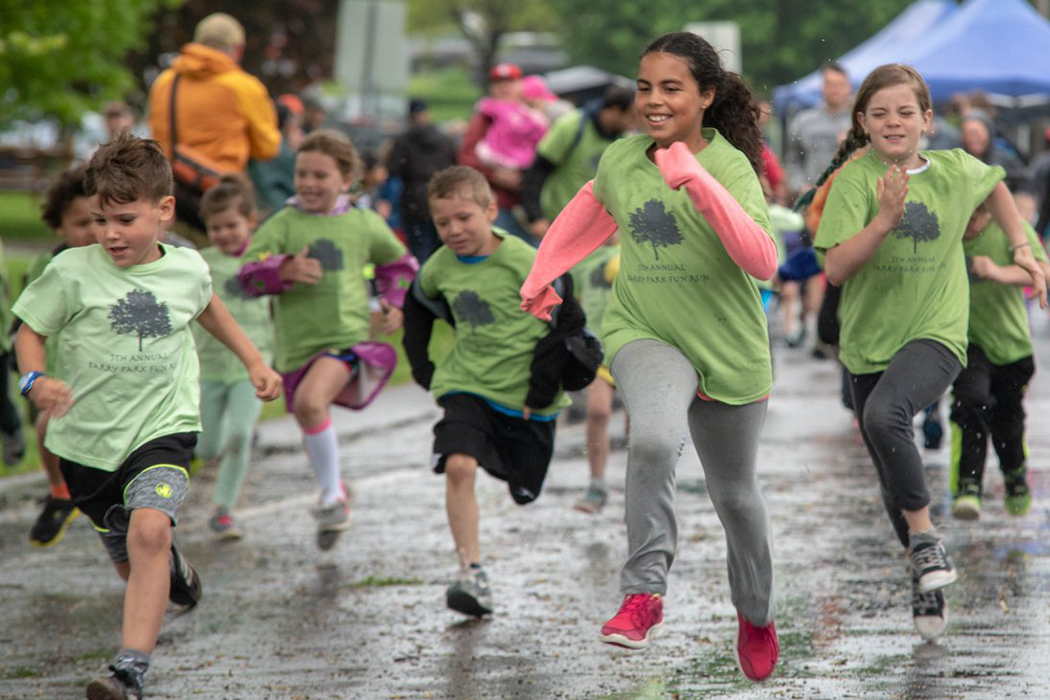 Barry Park UNPA Fun Run rain